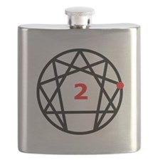 Enneagram 2 White.png Flask
