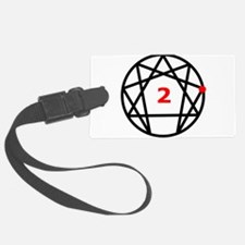 Enneagram 2 White.png Luggage Tag