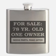 For Sale 78 Year Old Birthday Flask