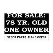For Sale 78 Year Old Birthday Rectangle Car Magnet