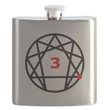 Enneagram 3 White.png Flask
