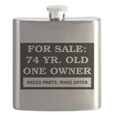 For Sale 74 Year Old Birthday Flask
