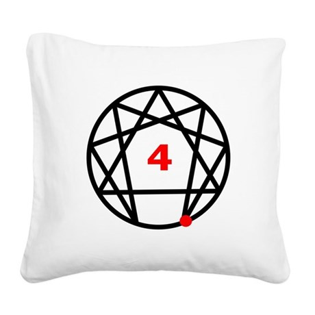 Enneagram 4 White.png Square Canvas Pillow