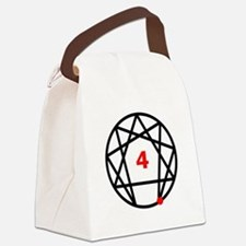 Enneagram 4 White.png Canvas Lunch Bag