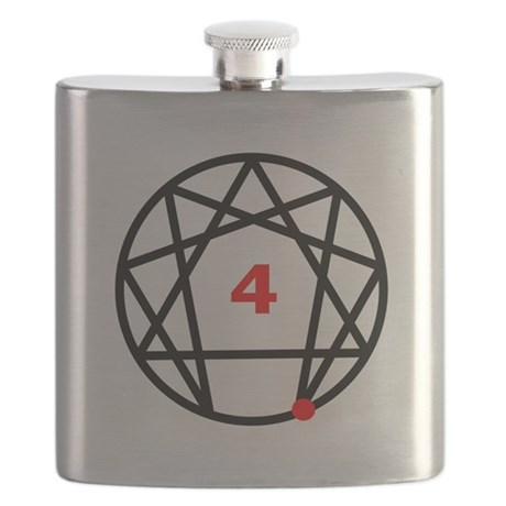 Enneagram 4 White.png Flask