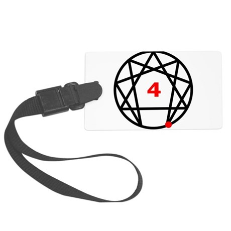 Enneagram 4 White.png Large Luggage Tag