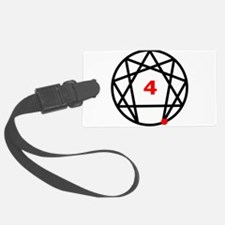 Enneagram 4 White.png Luggage Tag