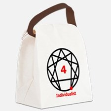 Enneagram 4 w text White.png Canvas Lunch Bag