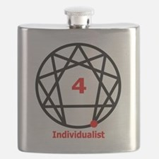 Enneagram 4 w text White.png Flask