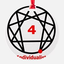 Enneagram 4 w text White.png Ornament