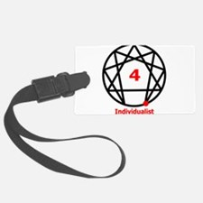Enneagram 4 w text White.png Luggage Tag