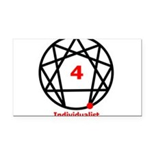 Enneagram 4 w text White.png Rectangle Car Magnet