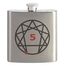 Enneagram 5 White.png Flask