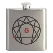Enneagram 6 White.png Flask