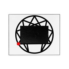 Enneagram 6 White.png Picture Frame