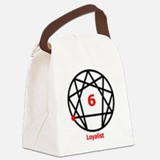 Enneagram 6 w text White.png Canvas Lunch Bag