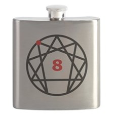 Enneagram 8 White.png Flask
