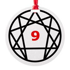 Enneagram 9 White.png Ornament