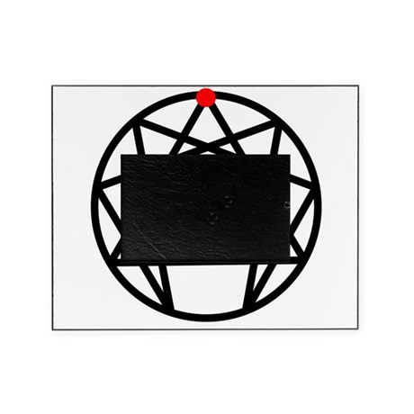 Enneagram 9 White.png Picture Frame