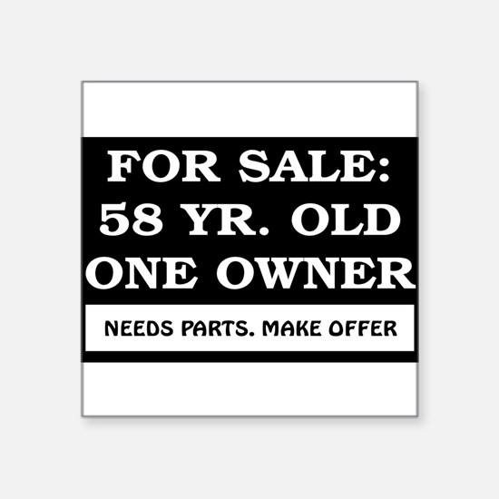 """AGE_for_sale58.png Square Sticker 3"""" x 3"""""""