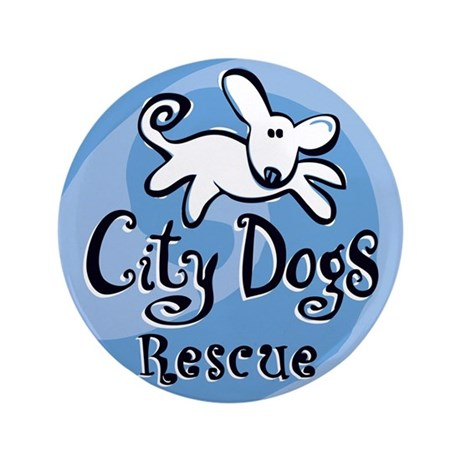 """City Dogs Rescue 3.5"""" Button (100 pack)"""