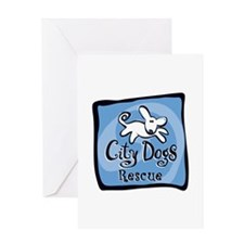 City Dogs Rescue Greeting Card