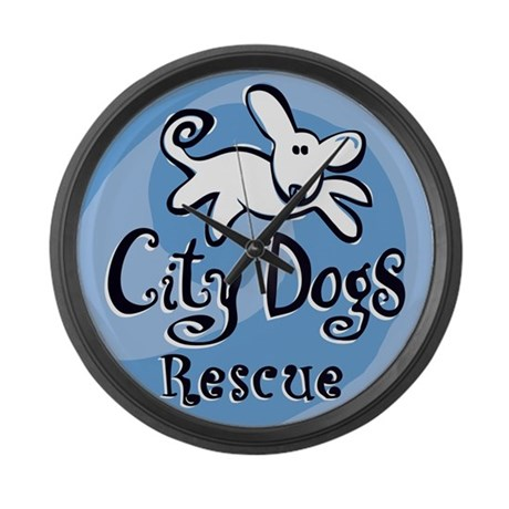 City Dogs Rescue Large Wall Clock