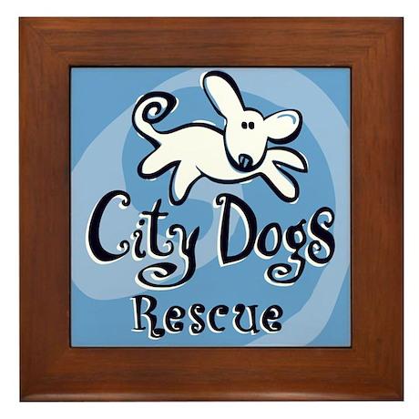 City Dogs Rescue Framed Tile