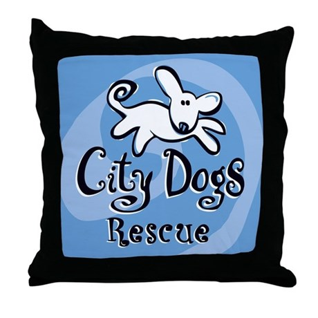 City Dogs Rescue Throw Pillow