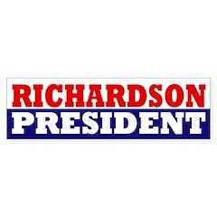 Richardson for President bumper sticker