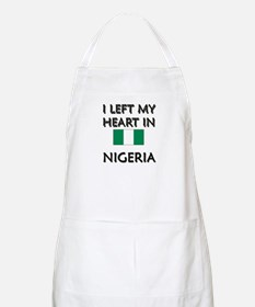I Left My Heart In Nigeria BBQ Apron