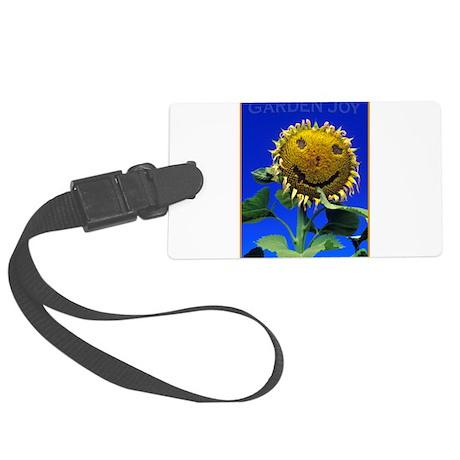 Garden Joy Sunflower Large Luggage Tag