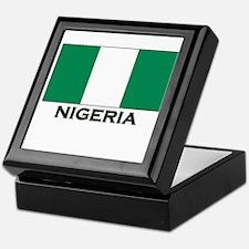 Nigeria Flag Gear Keepsake Box