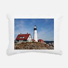 Portland Head Light Rectangular Canvas Pillow