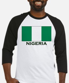 Nigeria Flag Gear Baseball Jersey
