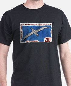 1959 French Antarctic Albatross Postage Stamp T-Shirt