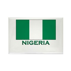 Nigeria Flag Merchandise Rectangle Magnet