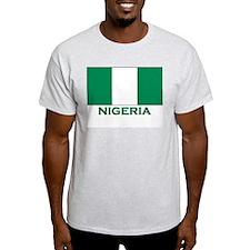 Nigeria Flag Merchandise Ash Grey T-Shirt