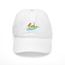 Surfing Basset Baseball Cap