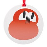 Red DARUMA Round Ornament