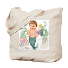 Little Merboy Tote Bag