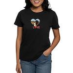 Love Hearts Women's Dark T-Shirt
