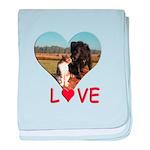 Love Hearts baby blanket