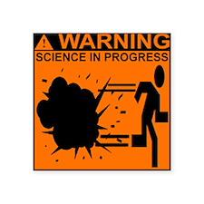 SCIENCE IN PROGRESS Rectangle Sticker