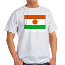 Niger Flag Picture Ash Grey T-Shirt