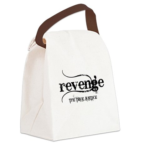 revenge-THE-TRUE-JUSTICE.png Canvas Lunch Bag