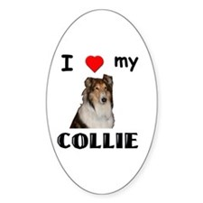 Love my Collie Oval Decal