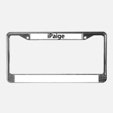 iPaige License Plate Frame