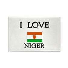 I Love Niger Rectangle Magnet