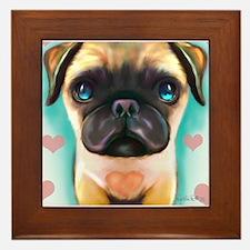 The love Pug Framed Tile